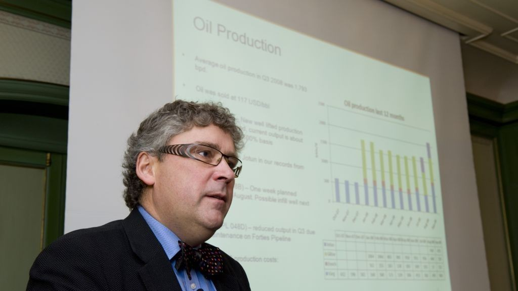 Konsernsjef Erik Haugane i Det norske oljeselskap DETNOR S