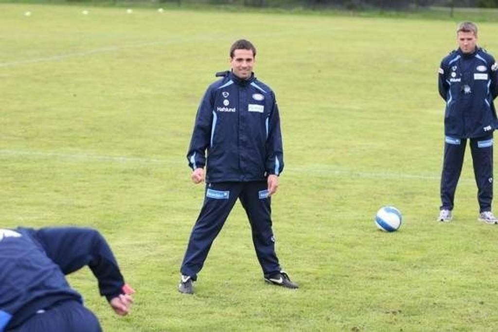 Martin Andresen og Tor Ole Skullerud på trening. Nå overtar Martin ansvaret