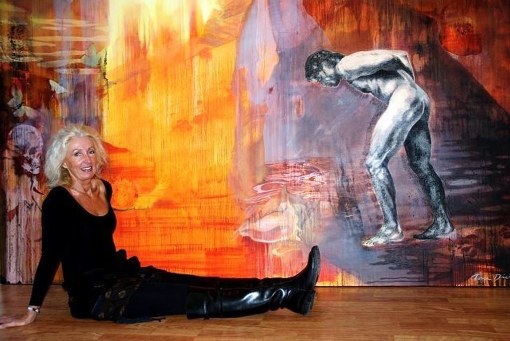 """Tone Dietrichson og Stig Inge Bjørneby har jobbet sammen i tre år med utstillingen """"Speil"""". e"""