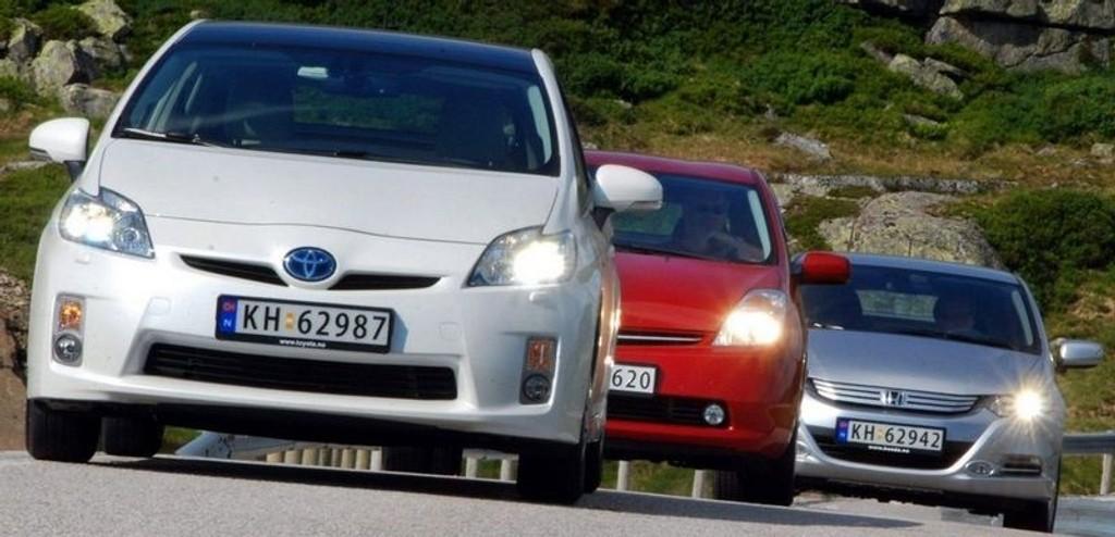 PÅ FJELLET: Totalt ble de tre testbilene kjørt over 3000 kilometer.