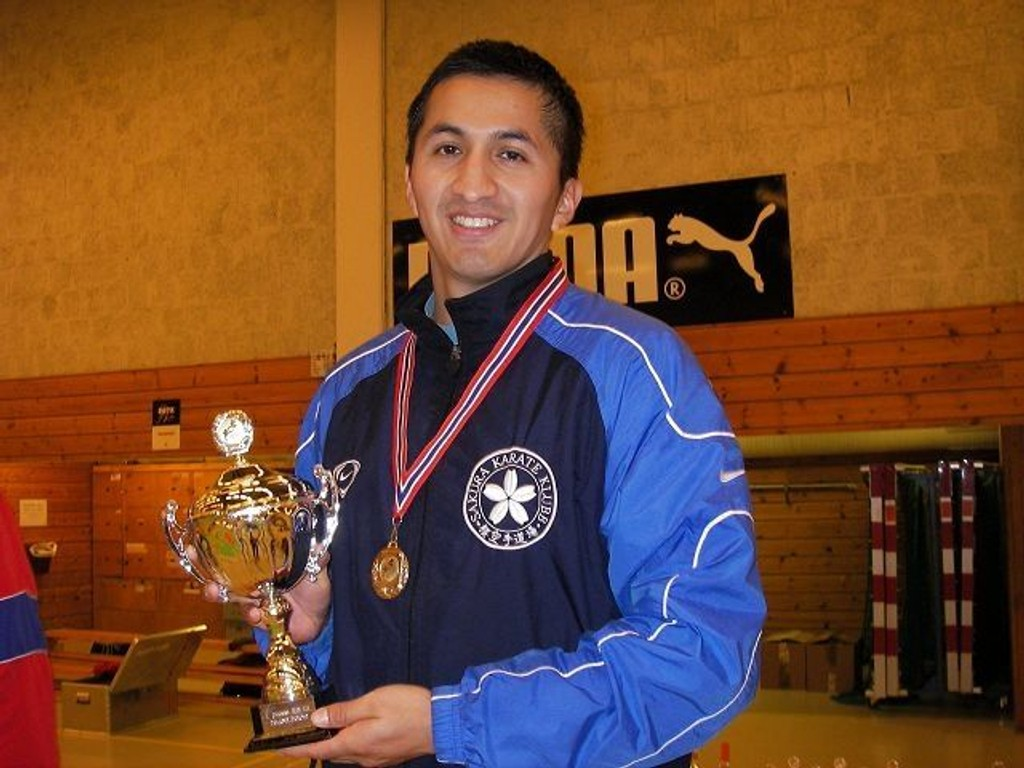 Gull: Arne Wallann fra Sakura Karateklubb vant gull i kata.