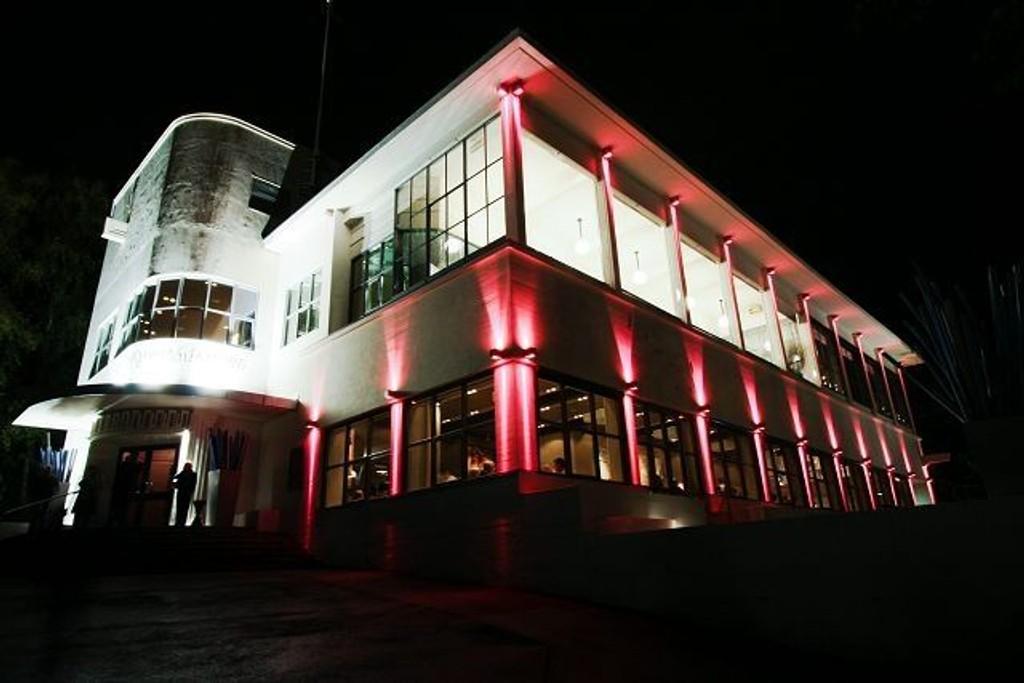 Ekebergrestauranten farges rosa i oktober til støtte for Rosa sløyfeaksjonen.