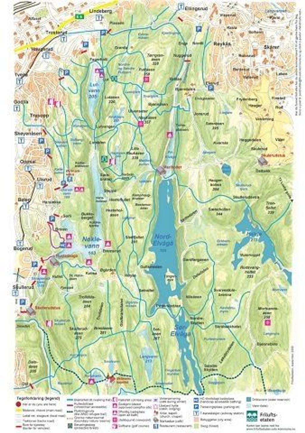 kart østmarka NYHETER   Håndmalte kart over Østmarka kart østmarka
