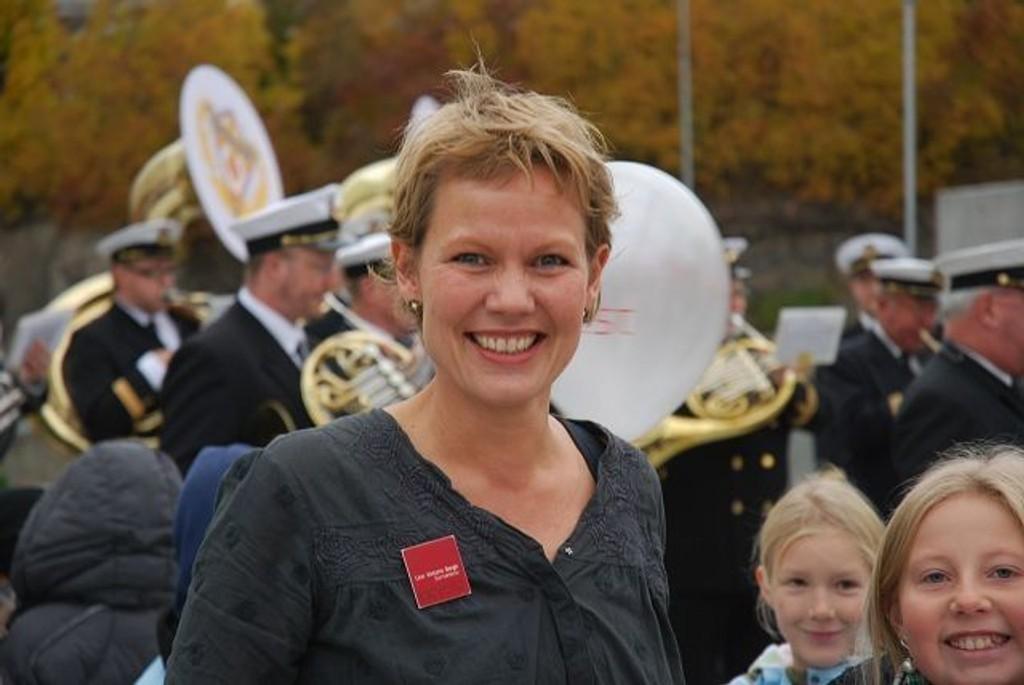 Senterleder Line Victoria Bergh gledet seg over mottakelsen den nye delen av CC Vest fikk. Foto: Vidar Bakken