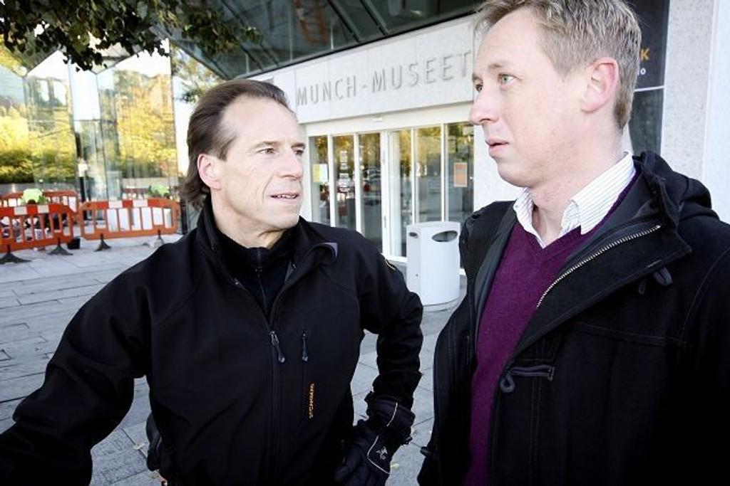 MUSEUMSENGASJERT: Jan Bøhler og Hans Christian Lillehagen vil komme i dialog med byrådet om Munch-museets videre skjebne på Tøyen.