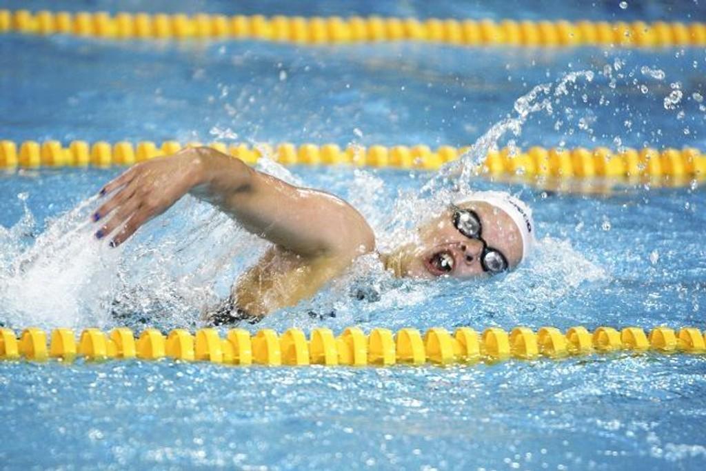Ingrid N. Knutzen var blant svømmerne fra Lambertseter som imponerte i Nordsjøstevnet. ARKIVFOTO