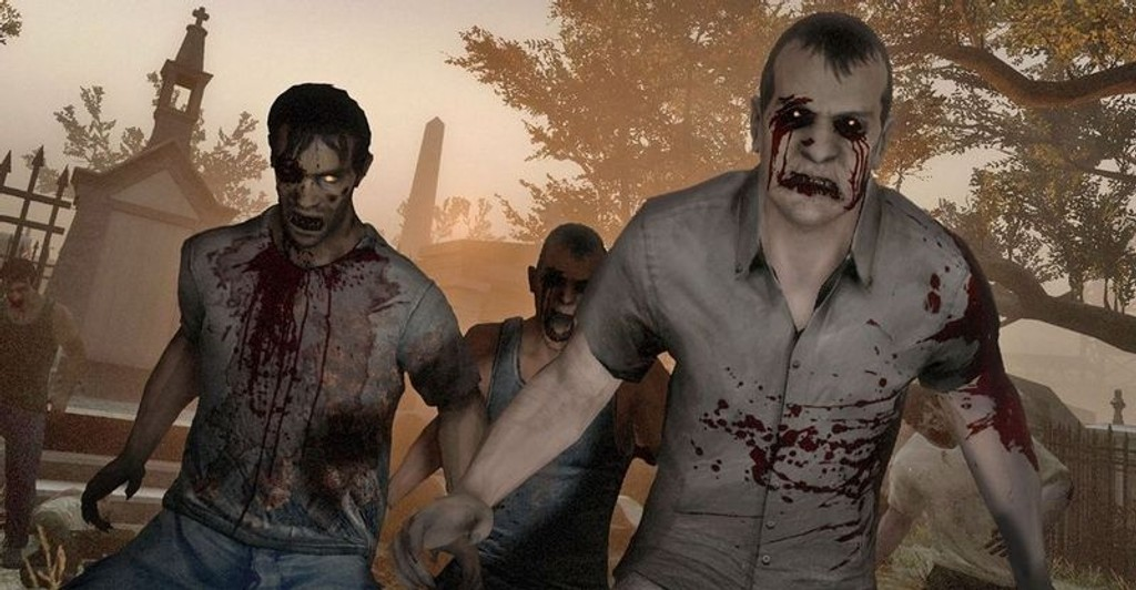 ZOMBIE: Left 4 Dead 2 er til tider usedsvanlig vanskelig, men svært underholdende hvis man spiller sammen med venner.
