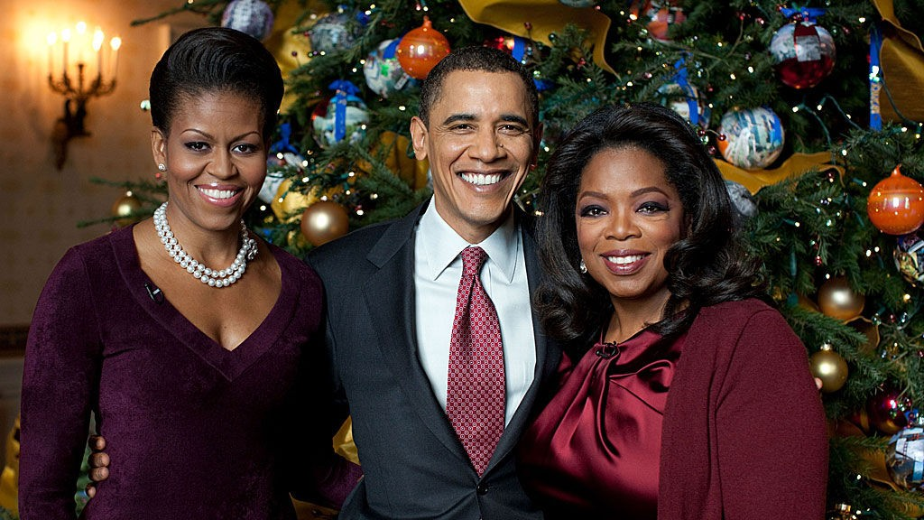 Michelle og Barack Obama, Oprah Winfrey, jul