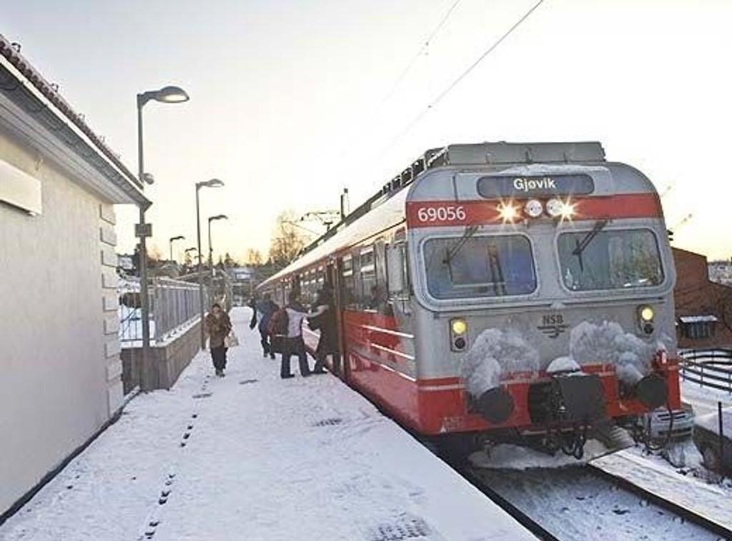 Nydalen holdeplass. Foto: Hilde Lillejord/Jernbaneverket