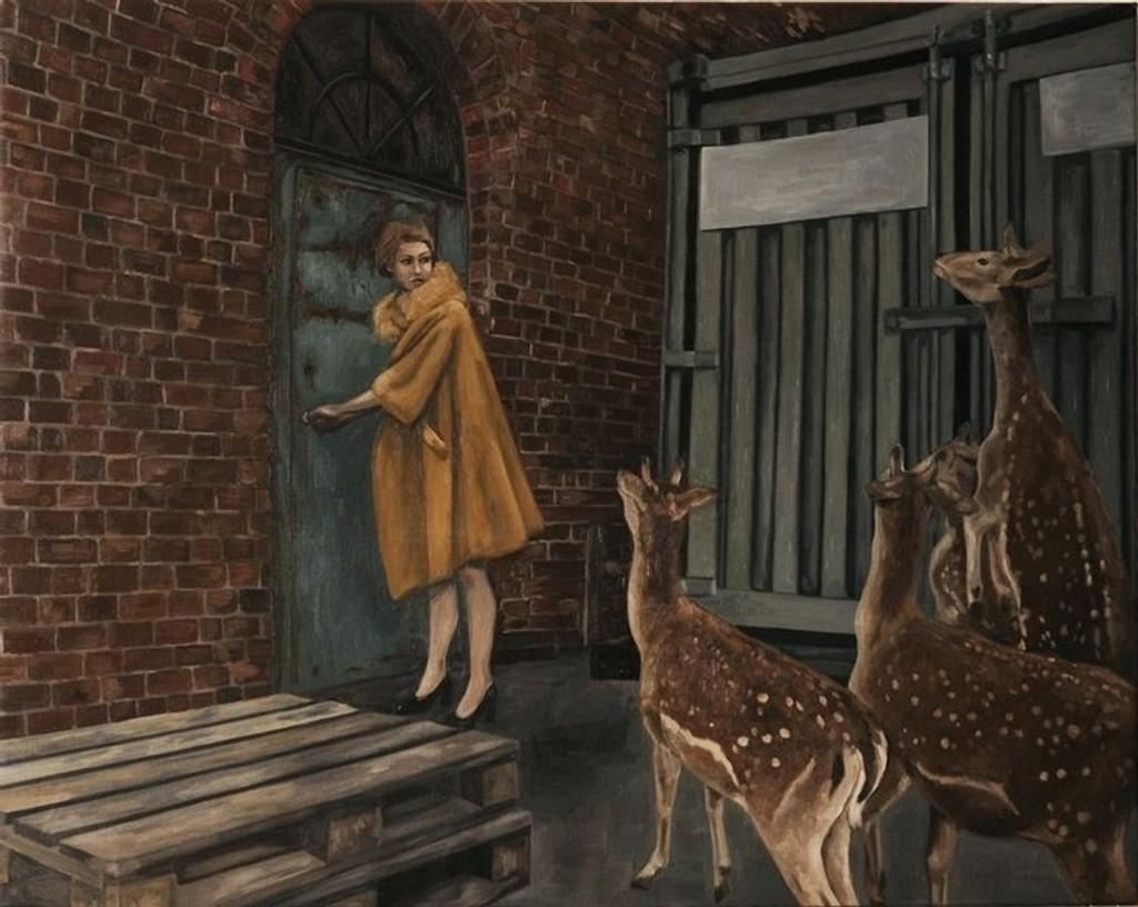 Isabelle Inghilleri sitt maleri er et av 150 kunstverk som skal auksjoneres bort.