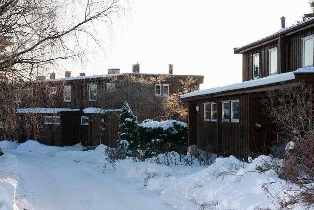 Flere boliger i Stovnerfaret er blitt ubeboelige etter at en privat oljetank sprang lekk i nabolaget. Foto: Anita L. Hanken