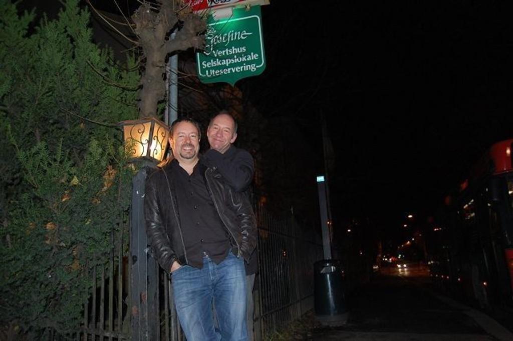 Jånni og Trond, Øyvind var travelt opptatt. FOTO: ANITA BAKK HENRIKSEN