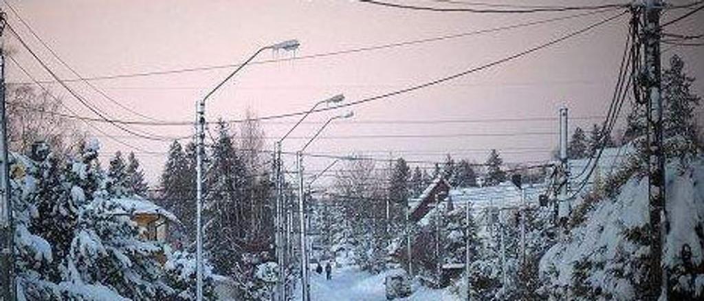 Strømmen er borte i Oberst Rodes vei/Freidigveien. FOTO: Privat