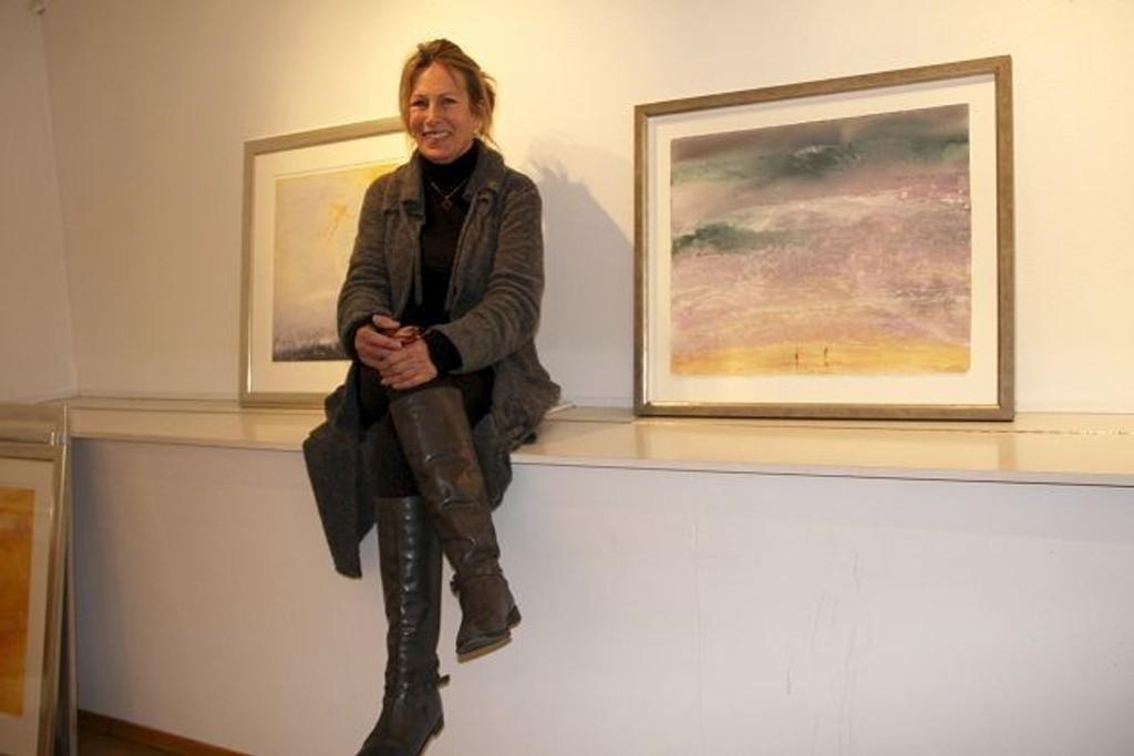 Gro Fraas trives i og med naturen. Du kan få med deg utstillingen hennes på Galleri Arctandria i Frognerveien 4. FOTO: ELLEN RØNNING