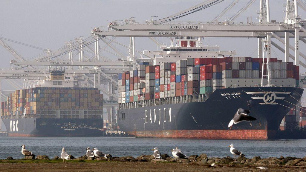 Handelsunderskudd Handelsbalanse Containerskip frakt sjøfrakt