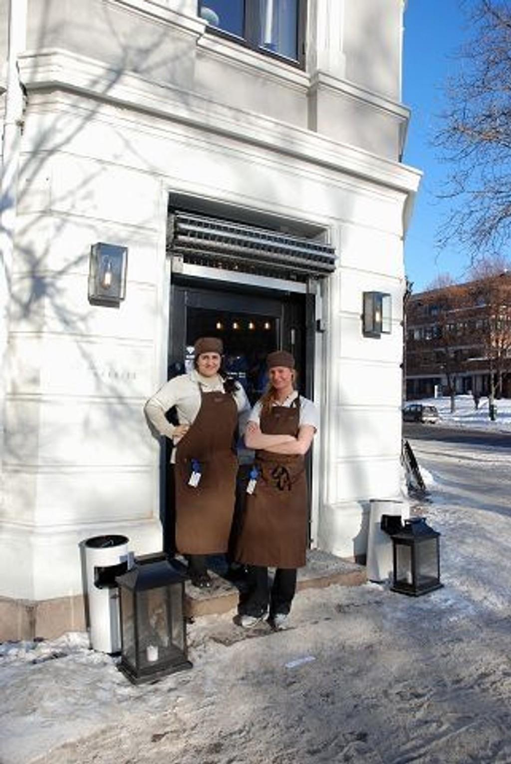 Maria Hassani og Louise Gustafsson.. FOTO: A.M.H.Q