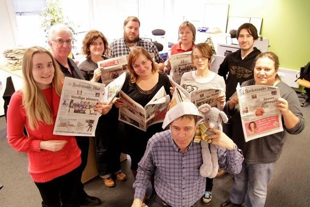 Redaksjonen i Nordstrands Blad jubler over nok et år med gode lesertall.