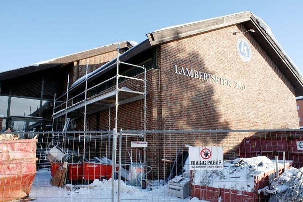 Lambertseter Bad har vært under renovering siden juni i fjor.
