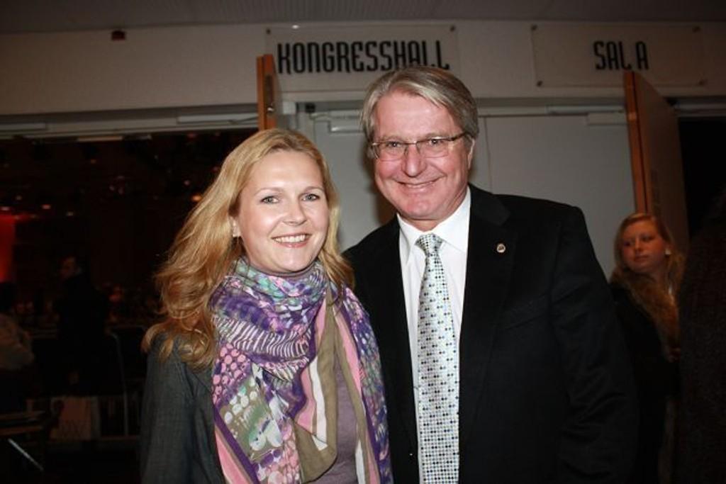 CatharinaMunthe og Fabian Stang etter visning. FOTO: HELLE KØBER