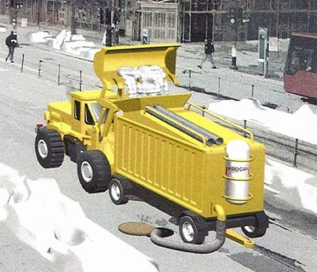 Dette er skisse av maskinen Berge utviklet i samarbeid med Confiance AS og Progas AS.