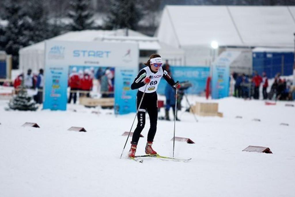 Ankerkvinnen: Celine Brun-Lie (Njård) gikk ankeretappen da hun og Astrid Uhrenholdt Jacobsen tok seg til finalen i lagsprint for kvinner. Arkivfoto: Carina Alice Bredesen