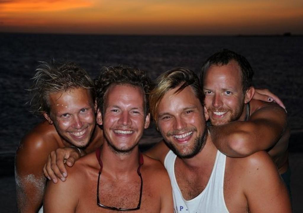 Kyrre, Marcus, Ketil og Otto for 18 måneder siden. Foto: Privat