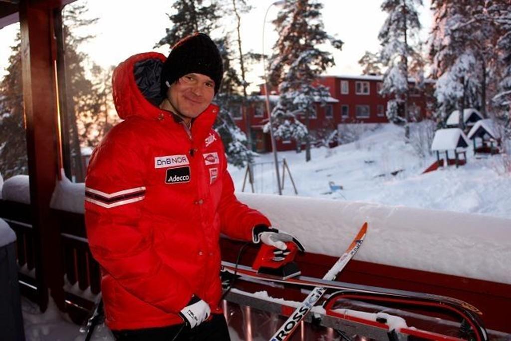I OL: Øystein «Pølsa» Pettersen fra Brobekk, og Lillomarka Ski. Arkivfoto