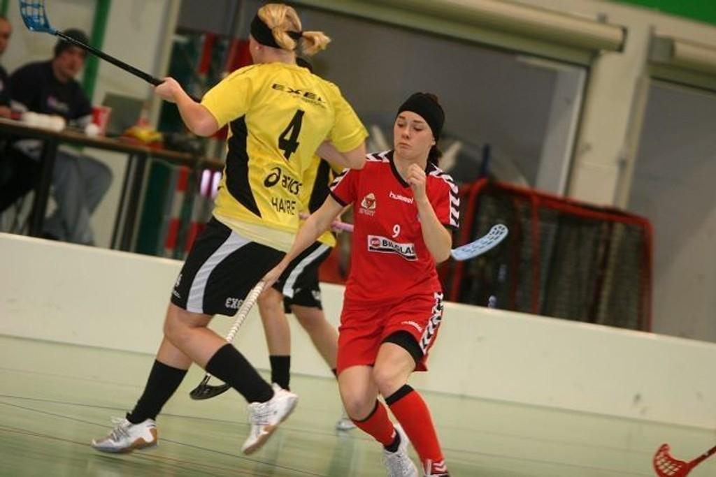 Kom til kort: Evelina Lamu og Sveiva strakk ikke helt til i seriefinalen mot Siri Havre og Tunet.