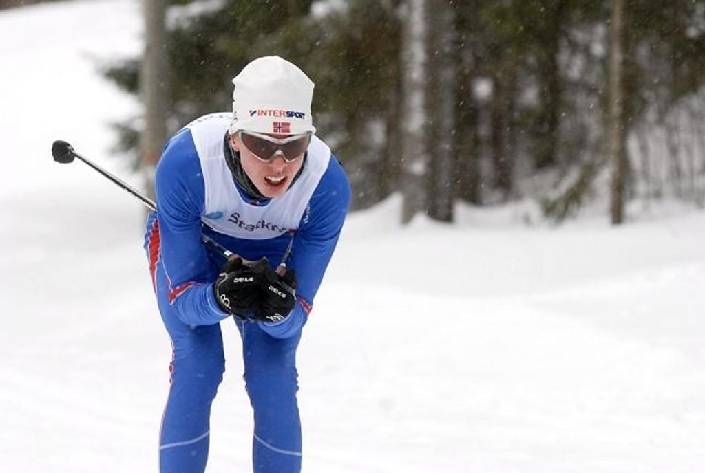 Bjørndal-løperen Anders Sørensen gikk fort i Ungdommens Holmenkollrenn.