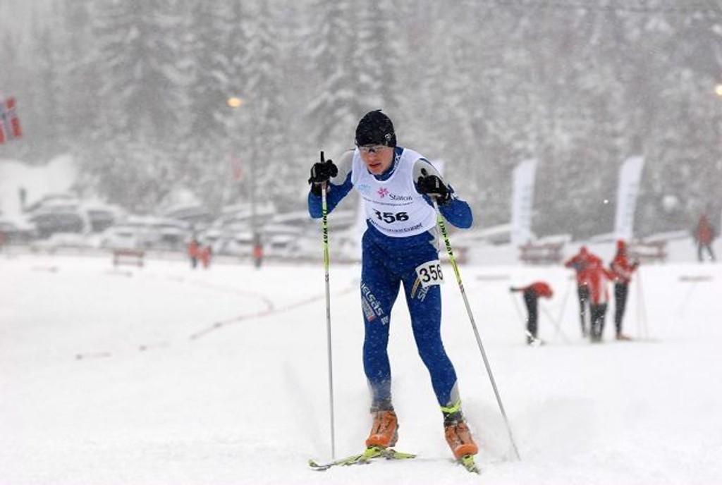 Thorstein Wang kjempet høyt oppe på resultatlistene i Hovedlandsrennet.