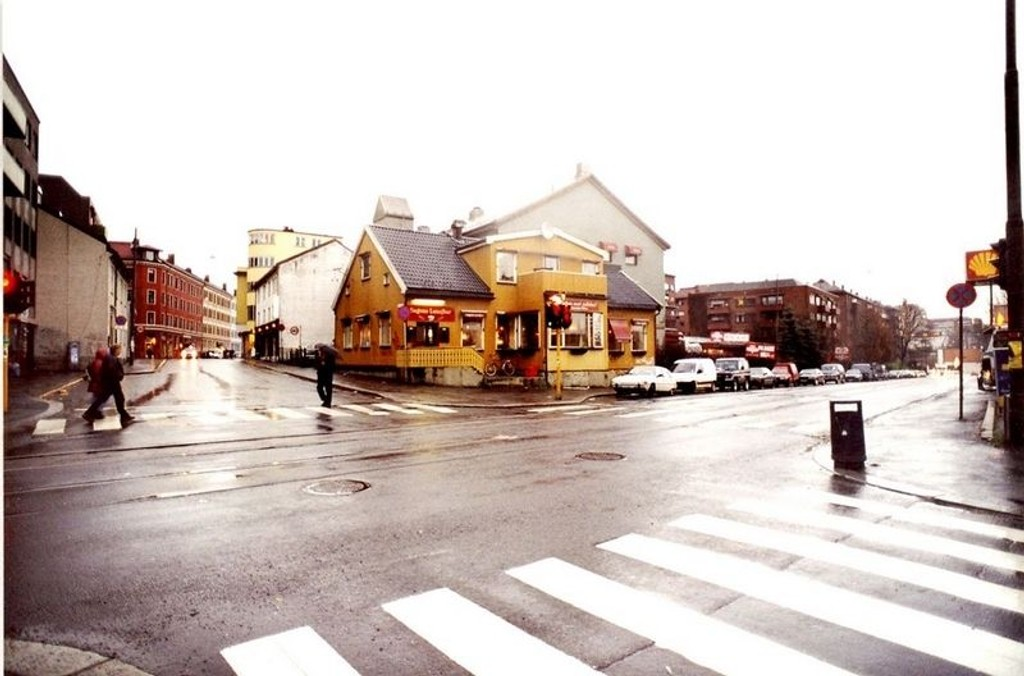 Sagene Lunsjbar slik nabolaget kjenner bygningen fra gammelt av.