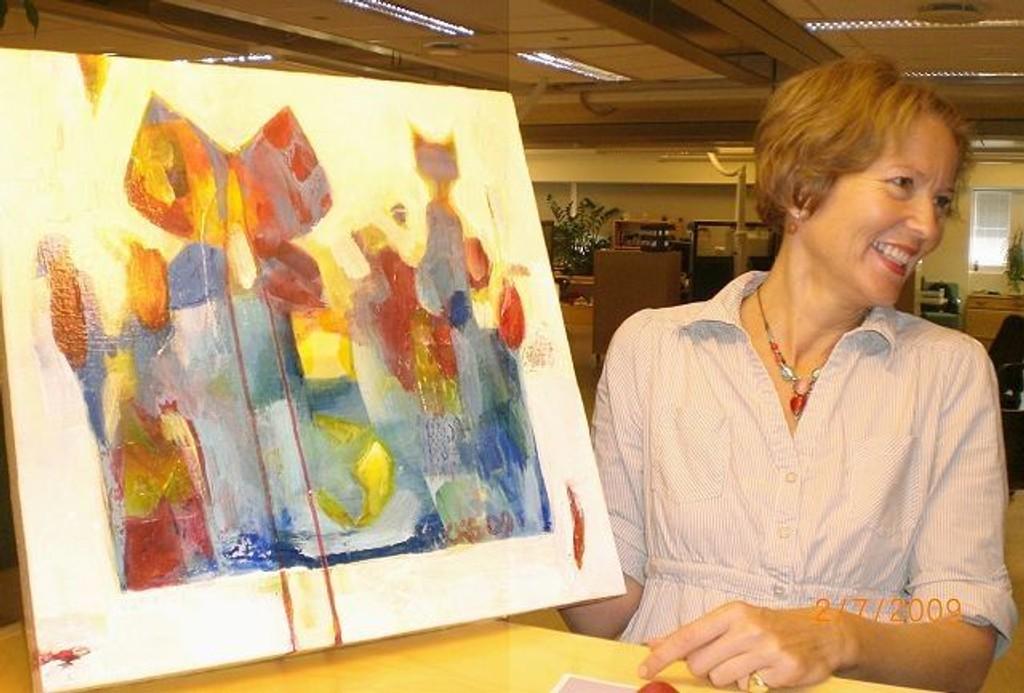 Kunstner Cathinka Kielland Gedde er klar med separatutstilling. FOTO: UTLÅNT
