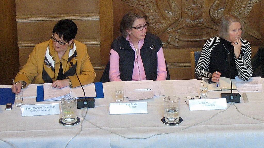 Bjørg Månum Andersson, Margaret Eckbo og Grete Horntvedt, høring, sykehjemsskandalen i Alta.