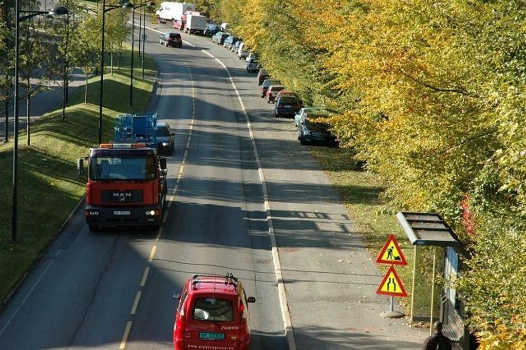 I året som kommer vil det passere atskillig flere biler over Tåsen. Her nedre del av Kaj Munks vei. Arkivfoto: Karl Andreas Kjelstrup