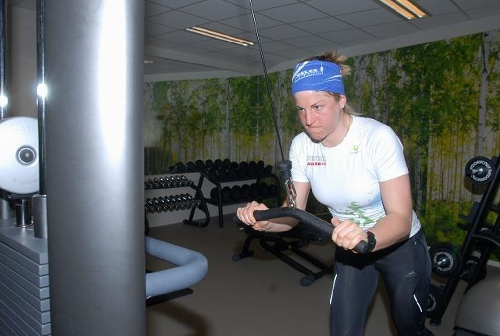 Tøffe økter i Heminghallen: Astrid Uhrenholdt Jacobsen kommer til å legge ned mange treningstimer i Hemings eget treningssenter før VM neste år.