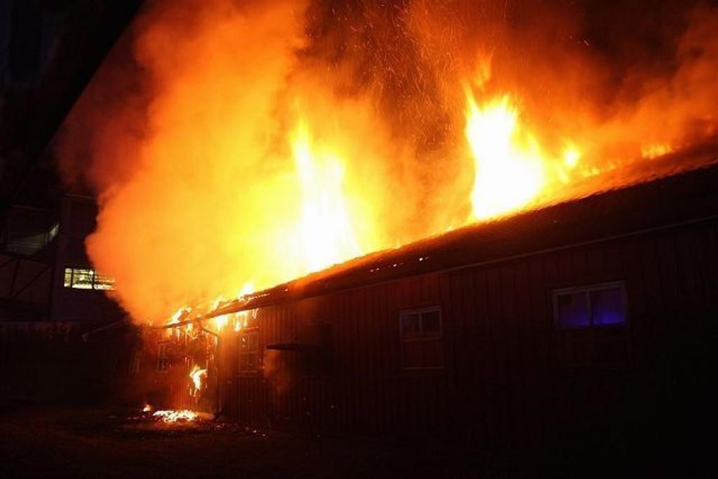Hovin rehabiliterings- og omsorgsenter var overtent da brannvesenet kom til stedet. FOTO: SVEIN GUSTAV WILHELSMEN