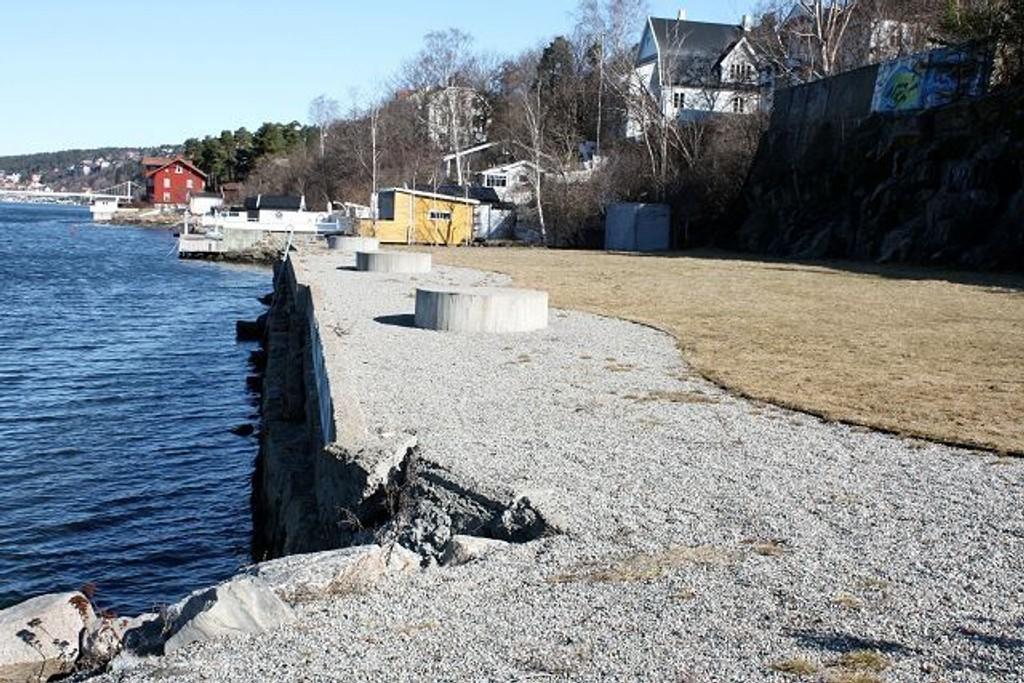 Trenger tiltak: Sæterstranda er i øyeblikket ikke den mest innbydende badeplassen langs Bunnefjorden. Foto: Aina Moberg
