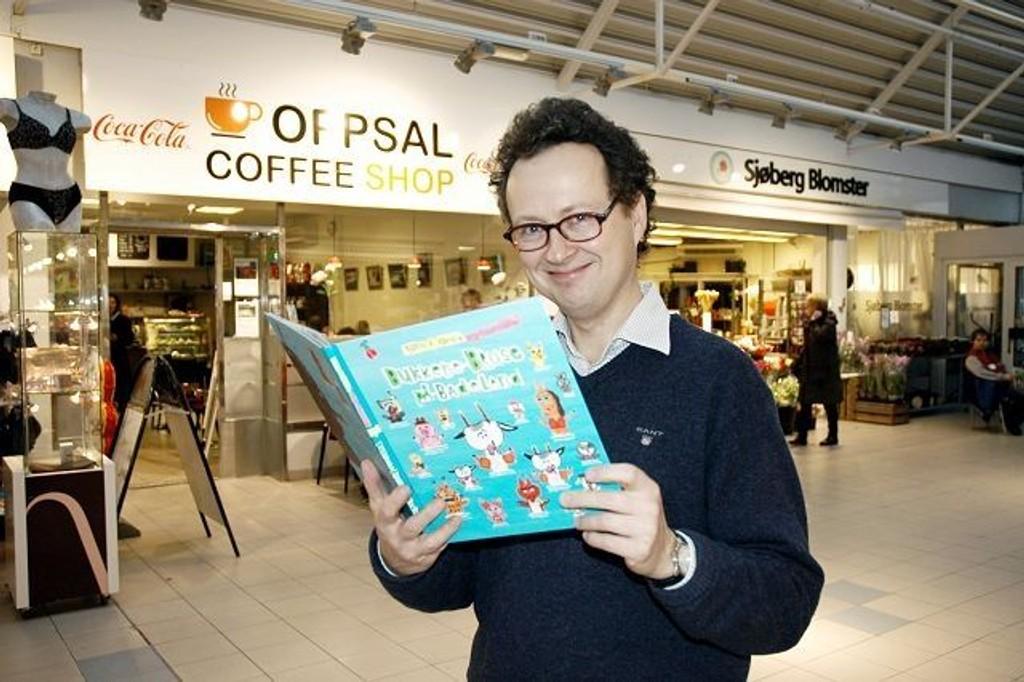 Barnebokforfatter Bjørn Rørvik kommer til Oppsal bibliotek lørdag klokken 12. Der skal han lese fra sin siste bok, «Bukkene Bruse på Badeland». ARKIVFOTO