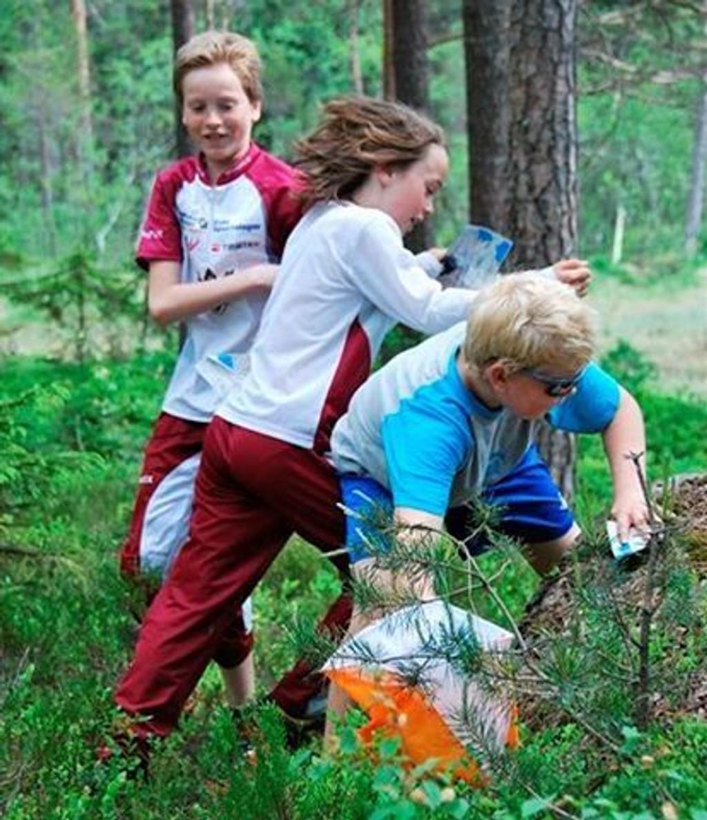 Tre unge Nydalenløpere i aksjon. foto: Jon Iver Bakken