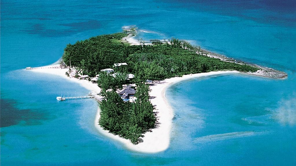 Det er ikke påtrengende mange som kommer til den vakre øya i Bahamas.