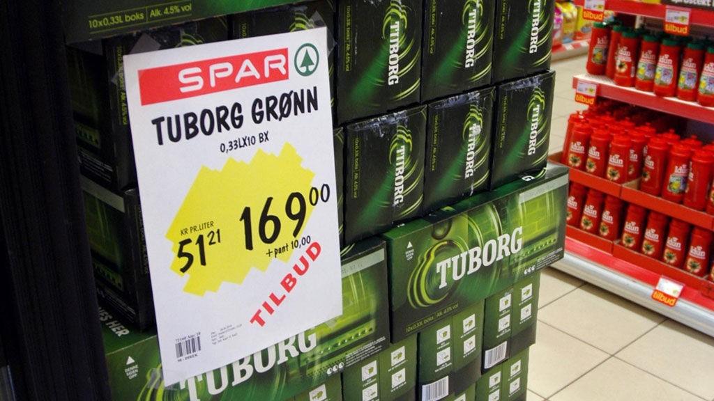 ALKOHOLLOVEN , TILBUD - Solgte øl på tilbud