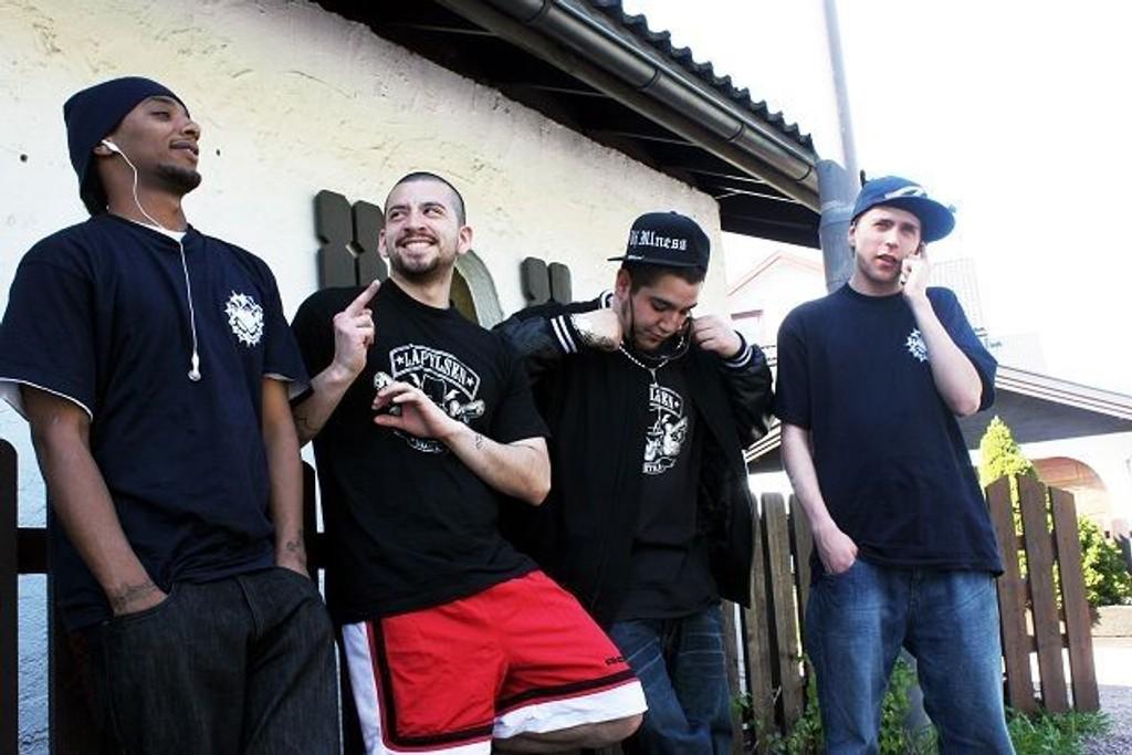 Gutta i Breaknecks, EX, Flip, Jonathan Castro (Ill) og E.D. Arkivfoto