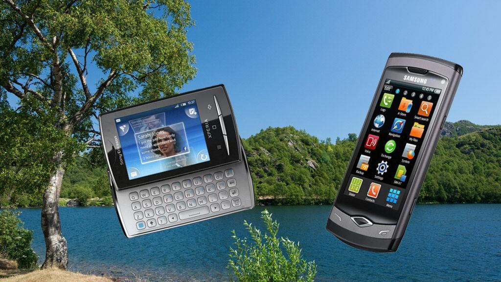Sony Ericsson X10 Mini Pro og Samsung 8500 Wave kommer i butikkene denne måneden.