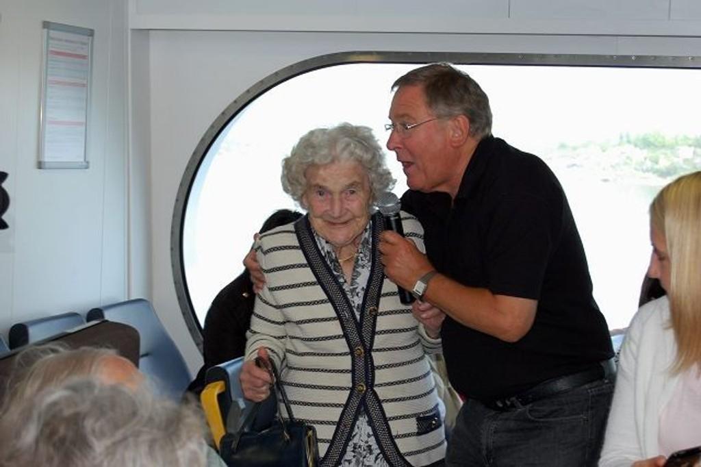 Margit (Spjutvold, 103) og Vidar Lønn-Arnesen). Foto: Grace Brynn