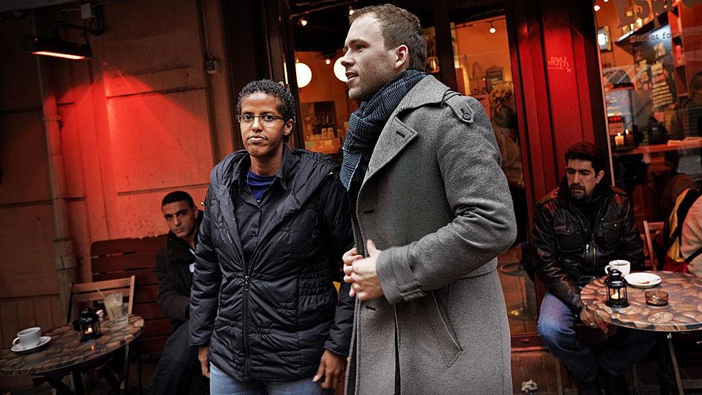 Amal Aden og Audun Lysbakken