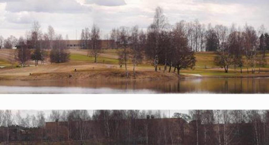 Nei mener Naboaksjonen, som vil synliggjøre at det er direkte siktlinje mot den planlagte kunstisbanen fra Bogstad gård. Foto: Naboaksjonen