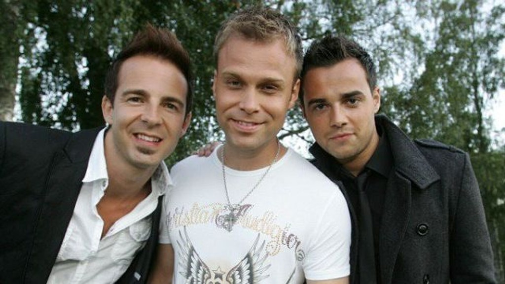 Mark Read, Christian Ingebrigtsen og Ben Adams i popgruppen A1. FOTO: Promo