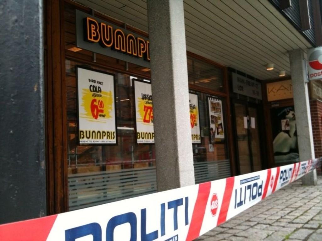 Denne Bunnpris butikken ble brutalt ranet av tre menn i morgentimene i dag