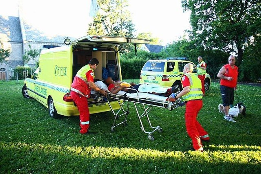 Gutten som ble stukket ned på Vålerenga skal ikke være alvorlig skadet. FOTO: SVEIN GUSTAV WILHELMSEN