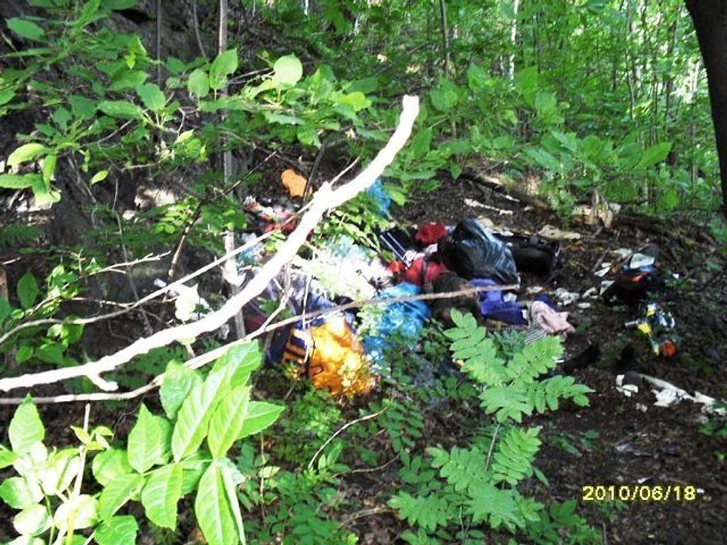21. juni var politiet i Ekebergskråningen og viste bort rumenere som camperte der. Det fløt av søppel og avføring i området. Foto: Privat